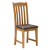 Furniture > Living Room > Bookcases Salisbury Oak Dining Chair with PU Leather Seat