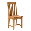 Furniture > Living Room > Bookcases Salisbury Oak Dining Chair with Wooden Seat