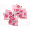 Pale Pink Polka Dot Bow Clamp Clip