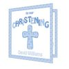 Christening Gifts > Cards Blue Christening Cross Card