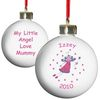Personalised Christmas Gifts Little Angel Personalised Bauble