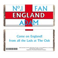 Birthday Gifts > Chocolate  - No1 England Fan Chocolate Bar