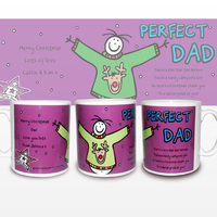 Personalised Christmas Gifts  - Purple Ronnie Christmas Dad Mug