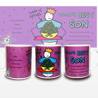 Personalised Christmas Gifts  - Purple Ronnie Christmas Son Mug