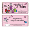 Birthday Gifts > Chocolate Purple Ronnie Personalised Perfect Mum Shopaholic Chocolate Bar