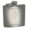 Anniversary Gifts > For Him Purple Ronnie Personalised Stainless Steel Hipflask