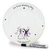 Wedding Gifts > Bride & Groom Purple Ronnie Personalised Wedding Message Plate