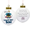 Personalised Christmas Gifts Purple Ronnie Son Bauble
