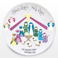 Personalised Christmas Gifts  - Silent Night Keepsake Plate