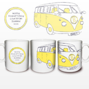 Birthday Gifts > Mugs and Cups  - Yellow Camper Van Mug