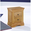 Bedside Cabinets / Nightstands LPD Worthing 2 Drawer Bedside Cabinet - Solid American White Oak (American White Oak)