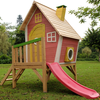 Children's Playhouses Kids Wooden Crazy Tower Slide Playhouse