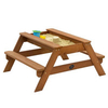 Wooden Garden Sandpits Wooden Picnic Table with Play Sandbox Top