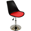 Black Tulip Style Chair with Bright Red Cushion
