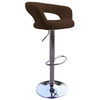Bar Stools Brown Faux Leather Mars Padded Style Bar Stool