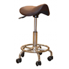 Commercial Stools Brown Saddle Salon Style Gas Lift Stool