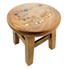 Kids Stools Carved Wooden Hippo Design Kids Stool
