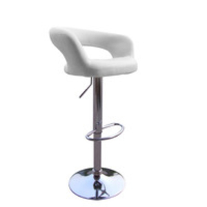 Bar Stools  - Cool White Mars Style Contemporary Designer Bar Stool