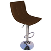 Bar Stools Curved Brown Mercury Faux Leather Relaxing Bar Stool