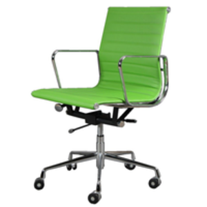 Office Chairs  - Eames 117 Retro Lime Green Swivel Office Chair
