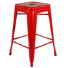 Bar Stools Xavier Pauchard Low Red Tolix Style Stool