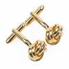 Knot Gold Plated Cufflinks