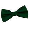 Bow Ties Men's Plain Ribbed Emerald Green Silk Bow Tie