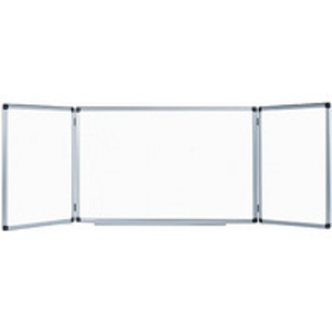 Display & Presentation Equipment > Whiteboards > Spacesaver Whiteboards  - Bi-Office Trio Magnetic Space-Saver Whiteboards