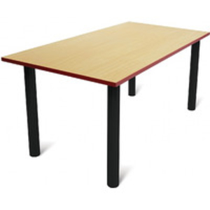 School Furniture > Classroom Tables  - Scholar Heavy Duty Rectangular Cylinder Legged Tables With Black Frame
