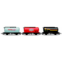Model Railways >  OO Scale  > Hornby Railroad Budget Range  - Fuel Train: Shell Tanker Texaco Tanker Total Tanker