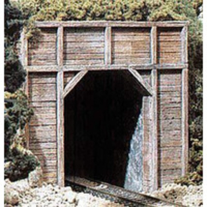 Model Railways > HO Scale > Buildings & Lineside > Tunnels & Bridges  - HO Tunnel Port Timber Sgl 1ea
