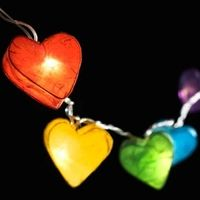 Lifestyle > Lighting  - Radiant Hearts Fairy Lights - Rainbow