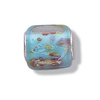 Charms Jo Glass Bead - Blue Square Multi