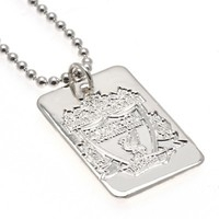 Football > Liverpool FC  - Liverpool F.C. Silver Plated Dog Tag & Chain