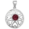 Pendants Silver Drop Celtic Pendant Purple