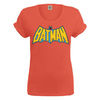 Women > T-Shirts Batman vintage crackle logo ladies rolled up sleeve t-shirt