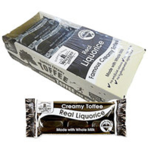 Boxed Sweets > Bulk Boxes  - Walkers Real Liquorice Toffee Bars - 24 x 50g