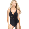 Accessories By Caprice Hera one piece swimsuit in black