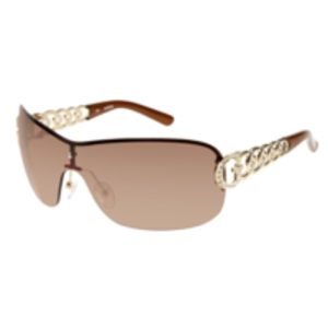 Sunglasses  - Guess Sunglasses in a visor with metal chain arms in chrome silver Col