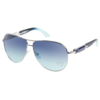 Guess Sunglasses in an aviator style with embellished lens in blue Col