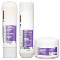 Treatments > Dyed & Treated  - Goldwell Dualsenses Blondes & Highlights Anti-Brassiness Hair Care Pack (3 Products)