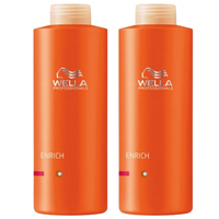 Shampoos > Normal  - Wella Professionals Enrich Shampoo 1000ml & Conditioner 1000ml For Fine to Normal / Dry Hair (2 Products)