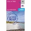 Active Landranger Map 46 Coll and Tiree