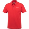Columbia Mens Elm Creek Stretch Polo Red Spark