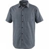 Columbia Mens Endless Trail II Short Sleeve Shirt Shark Plaid