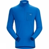 Long Sleeve Mens Rho LT Zip Neck