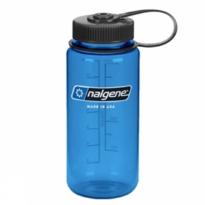Crockery & Cutlery for camping  - Nalgene Tritan Wide Mouth Bottle 500ml Blue