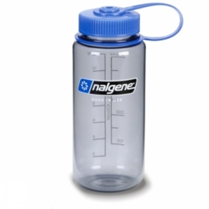 Crockery & Cutlery for camping  - Nalgene Tritan Wide Mouth Bottle 500ml Grey