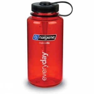 Crockery & Cutlery for camping  - Nalgene Wide Mouth Tritan Bottle 1 Ltr Red