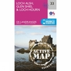 Ordnance Survey Active Landranger Map 33 Loch Alsh,  Glen Shiel and Loch Hourn V16